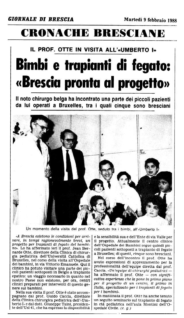 1988 02 09 Il Pro fessor Otte a Brescia