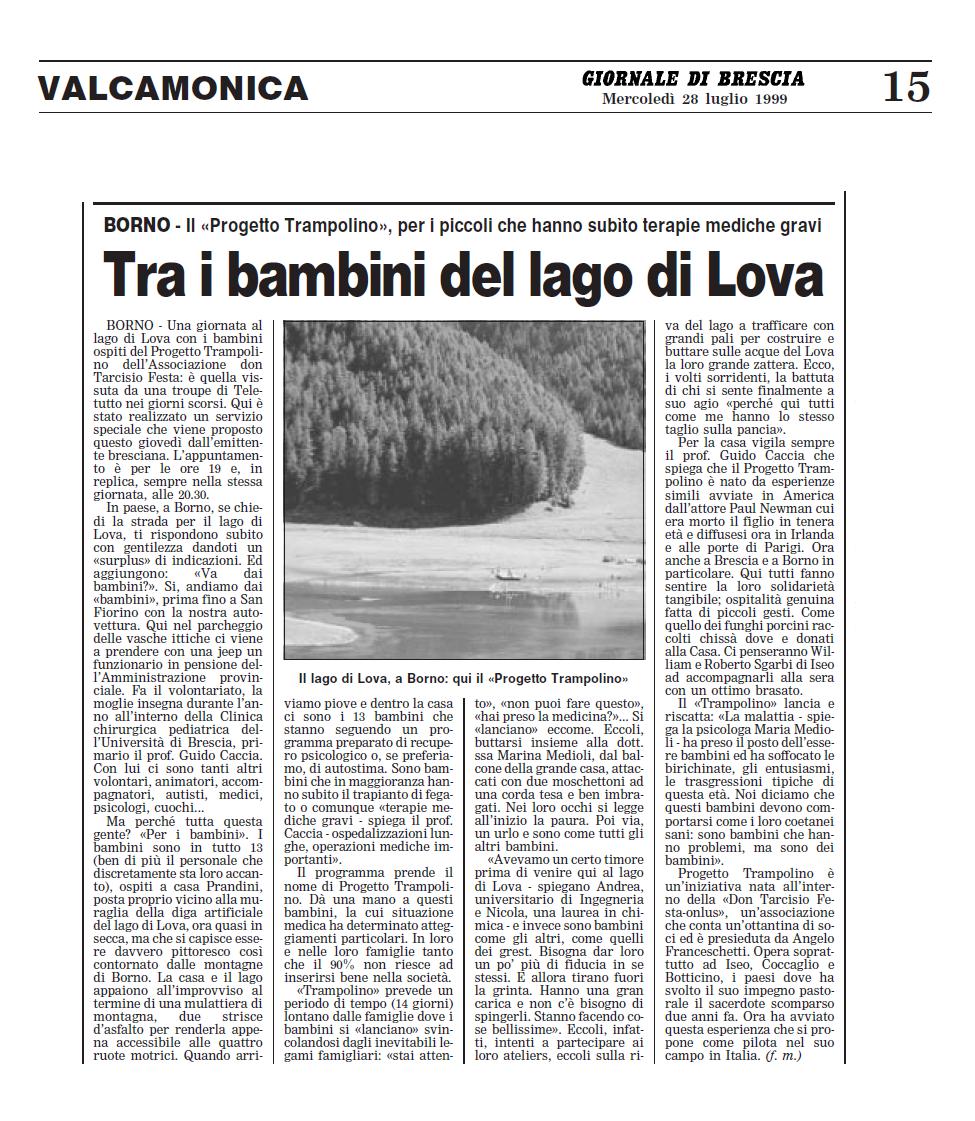 1999 07 28  Tra i bambini del lago di Lova