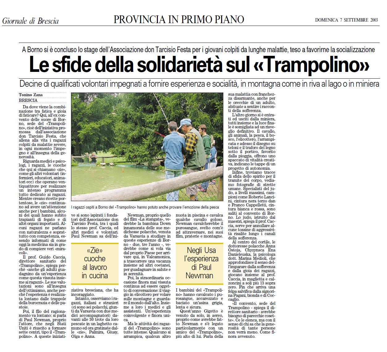 2003 09 07 Le sfide della solidarietà sul Trampolino